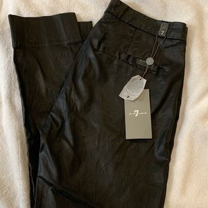 7 for all mankind coated chino pants